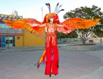 Fire Bird Phoenix on stilts