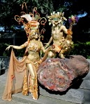 Gold Bacchus and Pomegranate Goddess,
