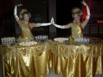 Gold table dress Duo