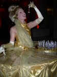 Gold table dress lady
