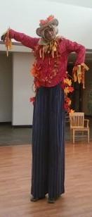 Scarecrow on stilts