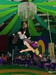 Elphaba & Glinda riding the broom
