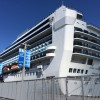The Grand Princess cruise ship berthed at the James R. Herman Cruise Terminal at Pier 27 just in time for the noon grand opening celebration